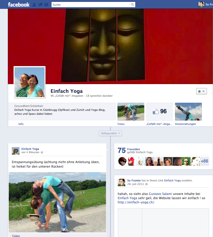 Einfach Yoga in Facebook